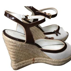 Authentic Louis Vuitton Wedges,Sz.38.5New w/nobox